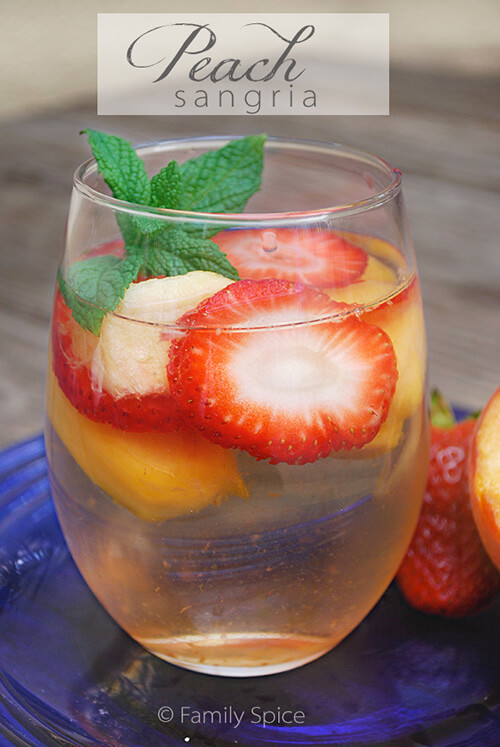 peach strawberry sangria this white wine sangria is a lighter version ...