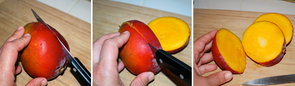 Mangos for Mango Sorbet without ice cream maker by FamilySpice.com