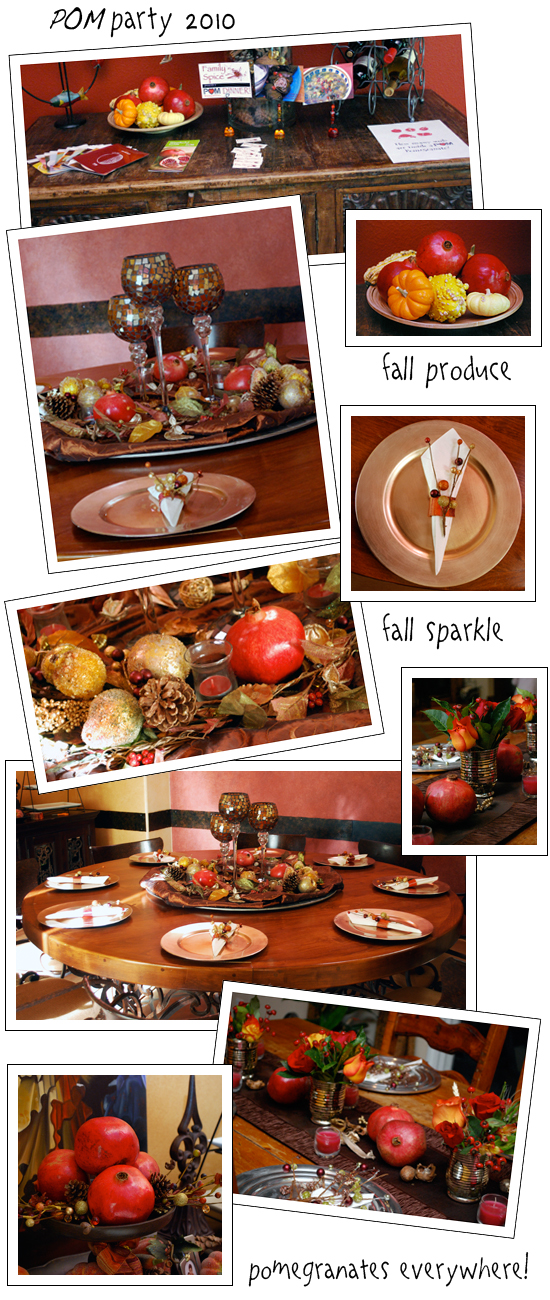 Pomegranate Decor for My Very Special POM Party by FamilySpice.com