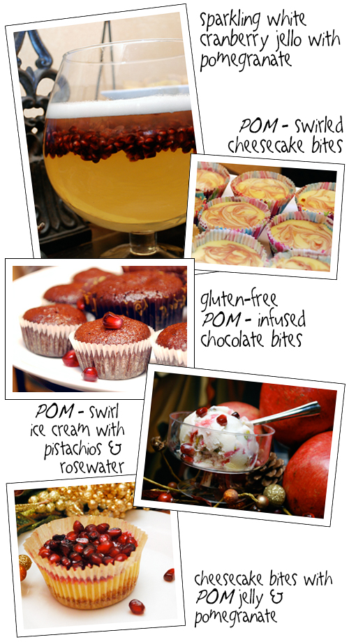 Pomegranate Desserts for My Very Special POM Party by FamilySpice.com