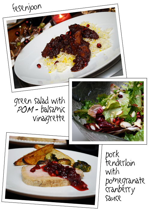 Pomegranate Entrees for My Very Special POM Party by FamilySpice.com