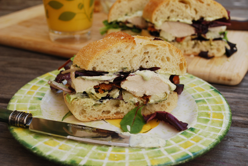 Chicken Caesar Club Sandwich by FamilySpice.com