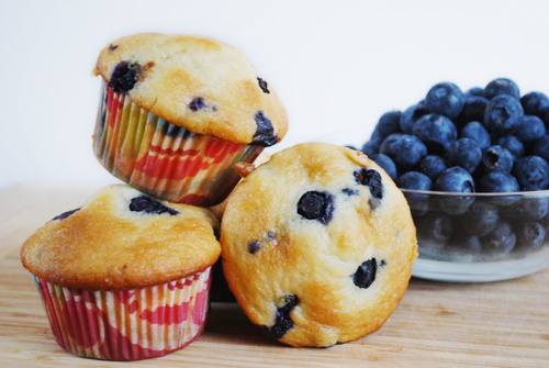 Lemon Blueberry Muffins by FamilySpice.com