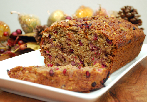 Pomegranate Banana Bread by FamilySpice.com