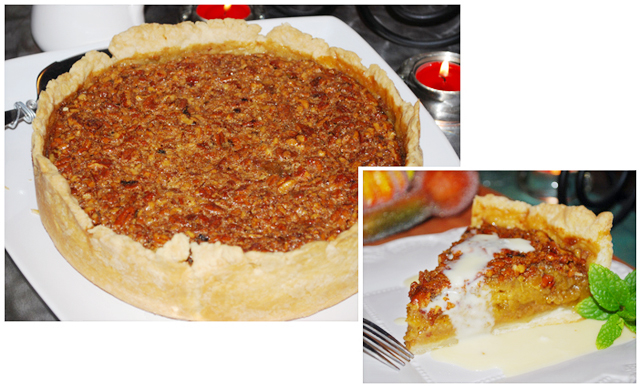 No need to choose from two classic pies, this rustic Pumpkin Pecan Pie ...
