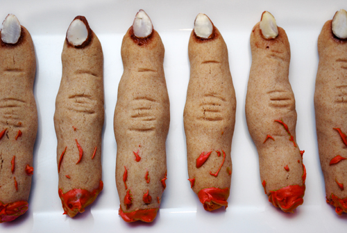 Whole Wheat Witch Finger Cookies by FamilySpice.com